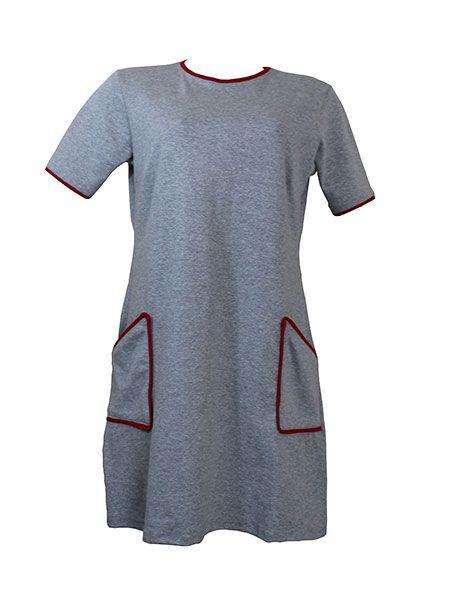 Vestido moletinho cinza