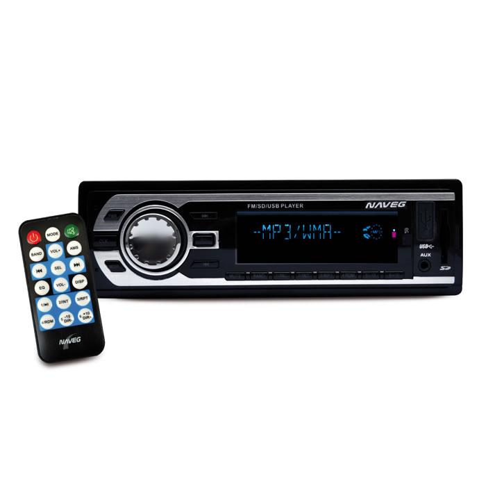 AUTO RÁDIO MP3 COM ENTRADAS USB-SD E CONTROLE REMOTO