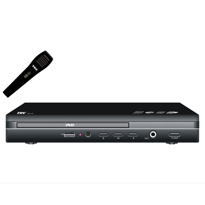 DVD PLAYER COMPACTO COM KARAOKÊ E MICROFONE, ENTRADA USB
