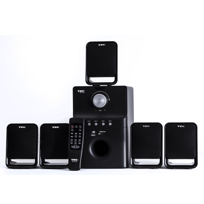 HOME THEATER 5.1 SPEAKER SYSTEM COM ENTRADAS USB-SD