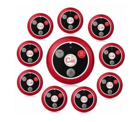 1 Relógio Chama Garçom com 10 Chamadores