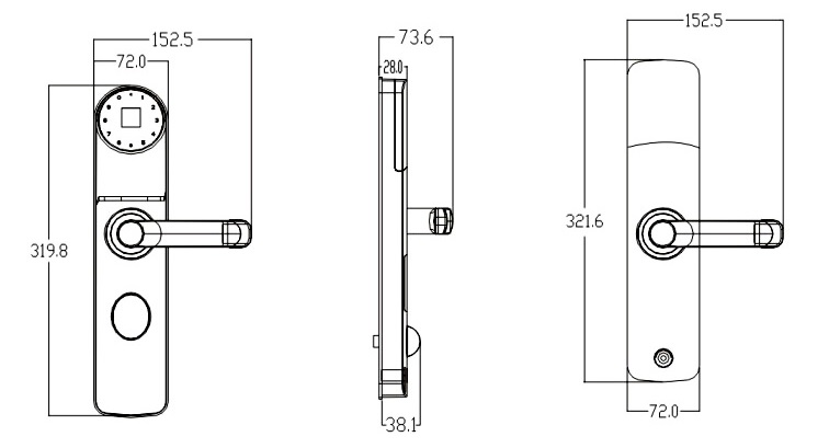 Fechadura Biométrica DL 8000