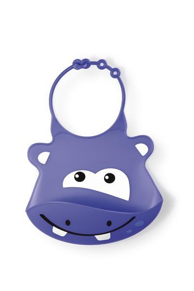 Babador De Silicone Silybib (hipopótamo)