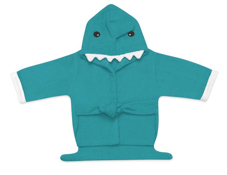 Roupão Para Bebê Com Capuz Tubarão