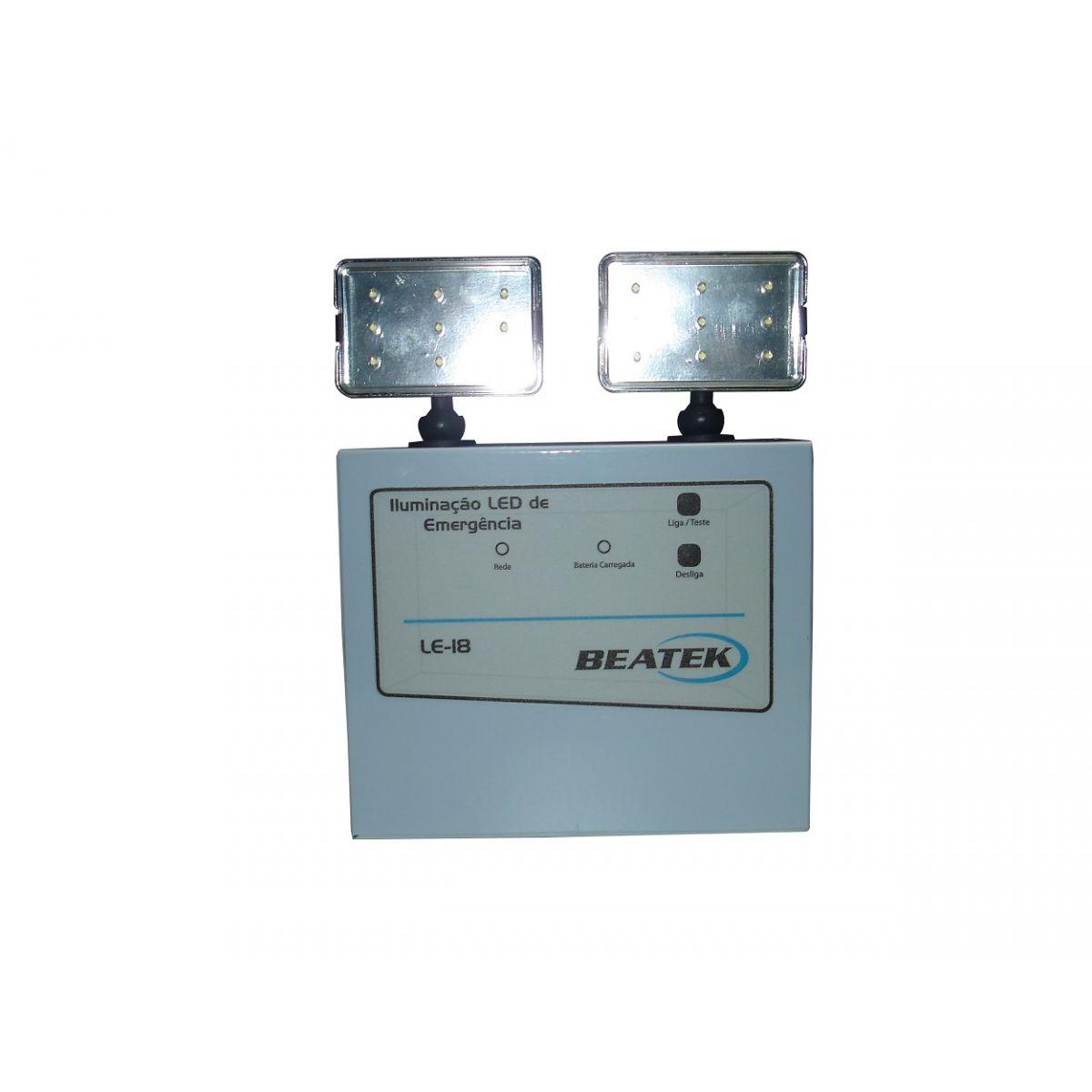 Luminária de Emergência LED LE-18