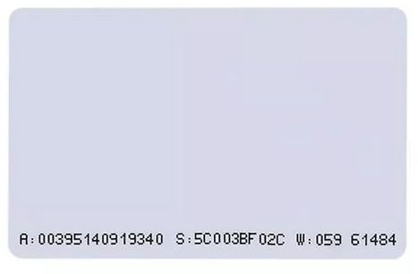 Cartão de Proximidade Rfid ISO 125 KHz ( fino )