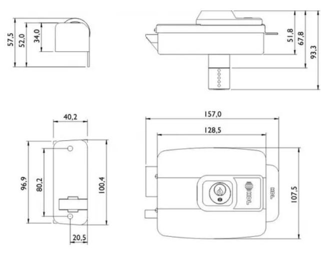 Fechadura Elétrica C90 Hdl Dupla Fixa