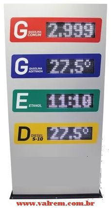 Totem de Preço para Posto de Combustíbel