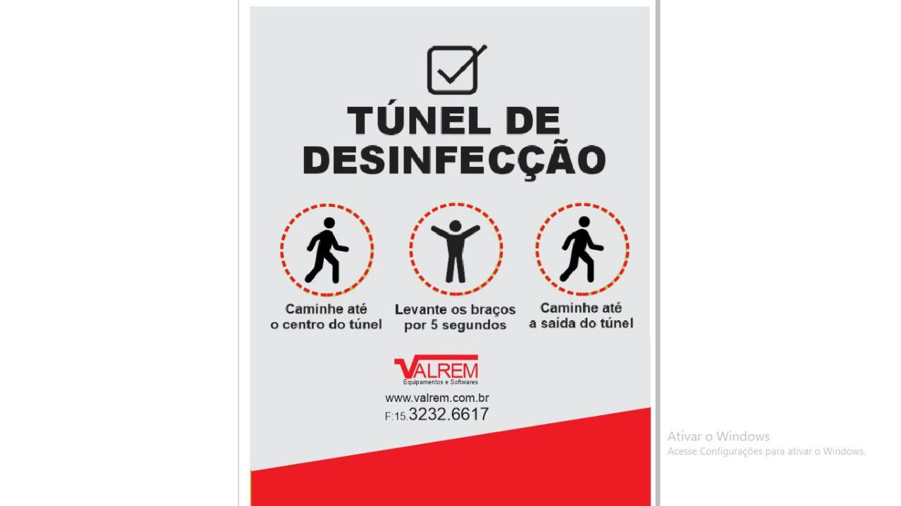 Túnel de Desinfecção de Pessoas Anti Vírus e Bactérias