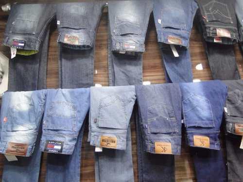 Kit C/ 10 Calças Jeans Masculinas Diversas Marcas