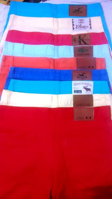 Kit C/5 Bermudas Colorida Várias Marcas Lacoste Oakley