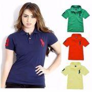 KIT 5 Camisas Polo Femininas Várias Marcas