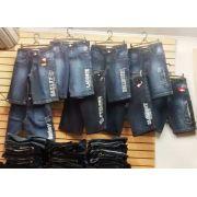 Kit C/ 2 Bermudas Jeans Bordadas Diversas Marcas