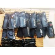 Kit C/ 20 Bermudas Jeans Bordadas Diversas Marcas