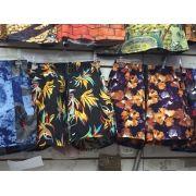 Bermuda Tactel Masculina Florida Atacado Kit C/ 20 Shorts Top