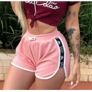 Kit 20 Shorts Casual Veludo Love Shortinho Feminino Atacado