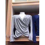 kit 3 blusinha transpassada Viscolycra