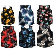 Kit 3 Regatas Camisetas Masculinas Long Ling Swag Florida Estampadas Floral