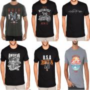 Kit 7 Camiseta Camisa Blusa Masculina Estampada Top Atacado
