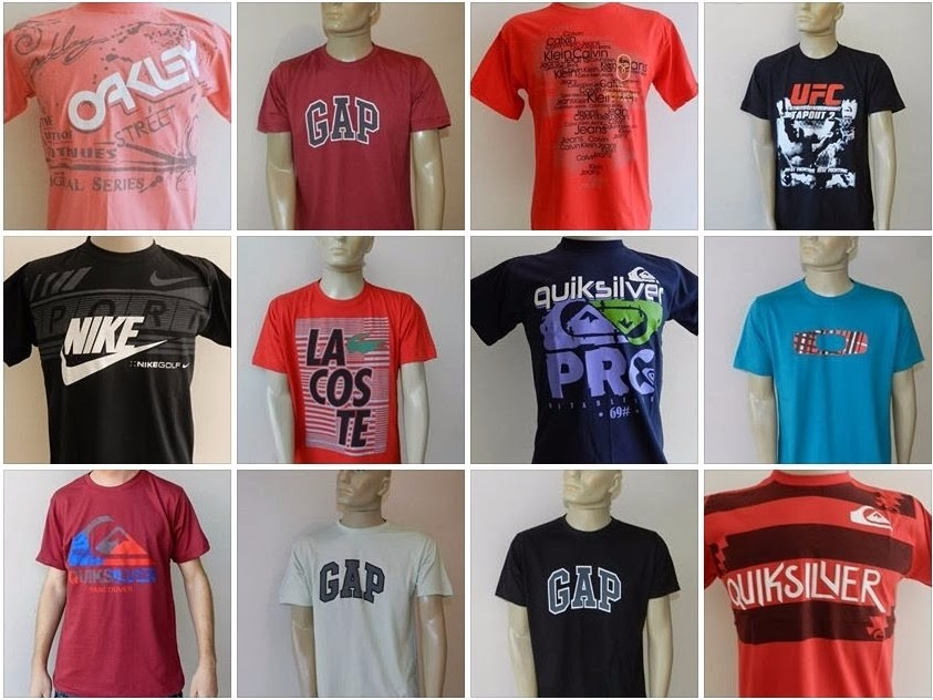 Kit C/ 10 Camisetas Masculinas Diversas Marcas
