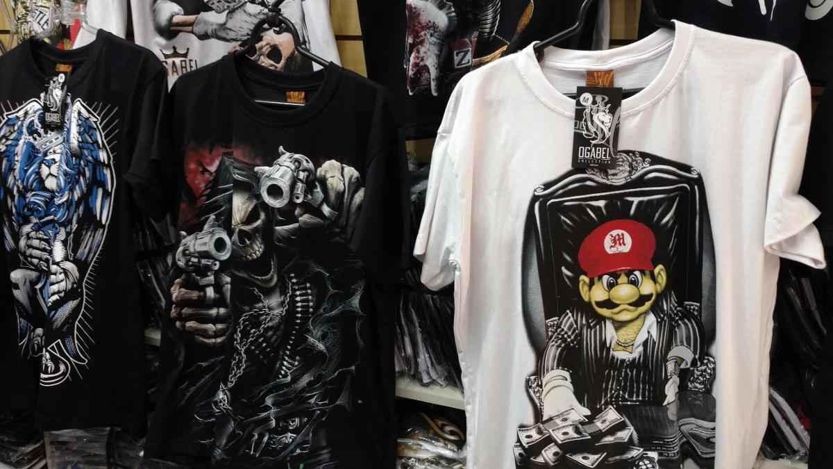 Kit C/ 10 Camisetas Masculinas Ogabel Várias Estampas