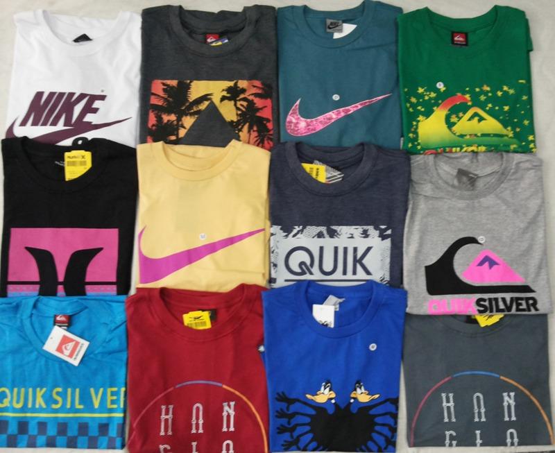 Kit C/ 30 Camisetas Masculinas Diversas Marcas