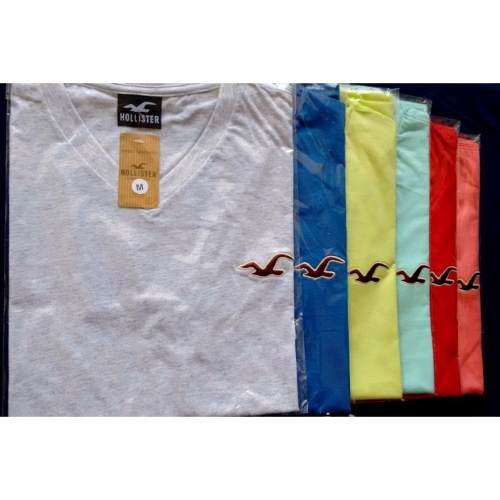 Kit C/ 30 Camisetas Gola V Masculinas Diversas Marcas
