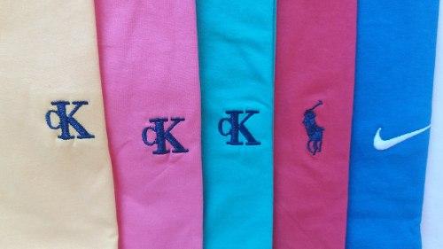 Kit C/ 5 Camisetas Masculinas Bordado no Peito Diversas Marcas