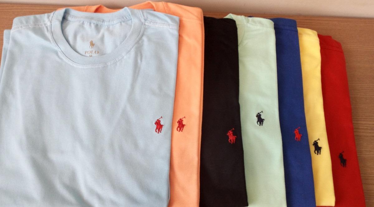 Kit C/ 50 Camisetas Masculinas Bordado no Peito Diversas Marcas