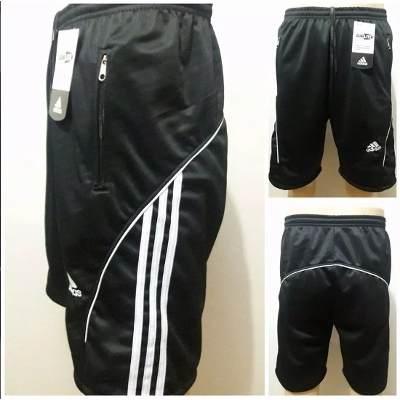Kit C/10 Bermudas Masculinas Adidas Com Bolso com Zíper