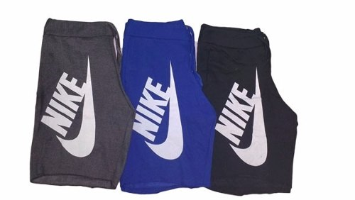 Kit 5 Bermuda Moletom Masculina Nike