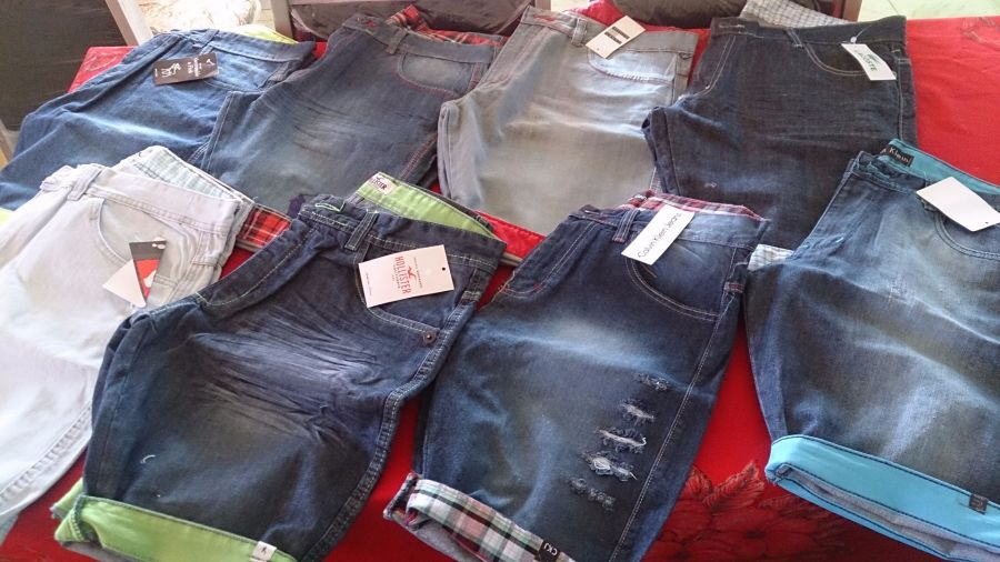 Kit C/ 30 Bermudas Jeans Masculinas Diversas Marcas