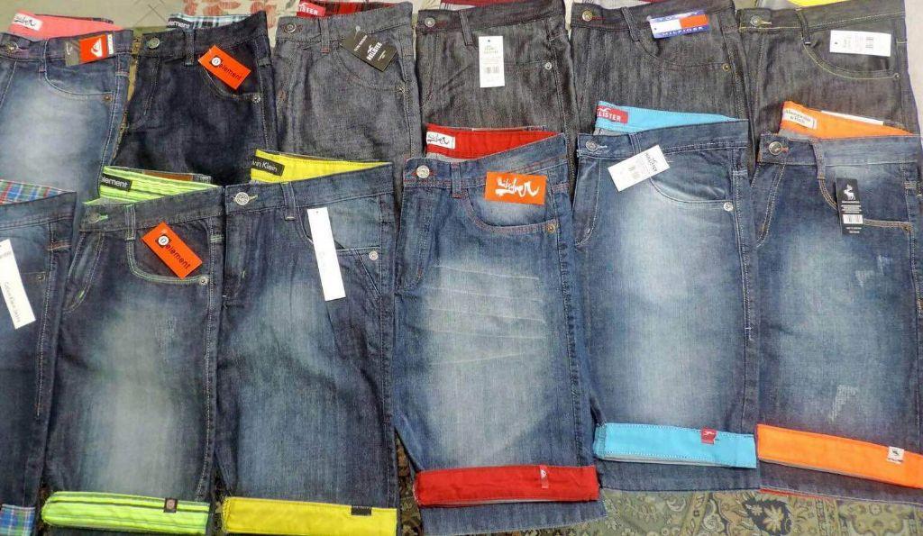 Kit C/ 50 Bermudas Jeans Masculinas Diversas Marcas