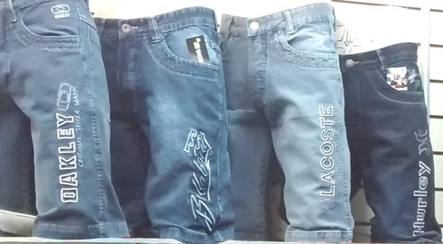 Kit C/ 10 Bermudas Jeans Bordadas Diversas Marcas