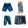 Kit C/ 5 Bermudas Jeans Masculina Diversas Marcas
