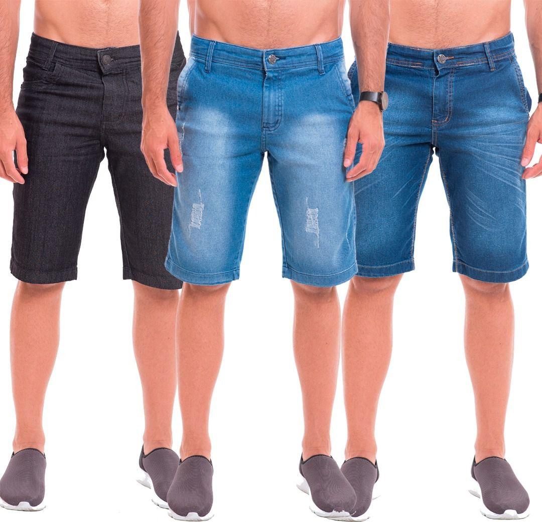 Kit 10 Bermuda Short Jeans Masculina Atacado Revenda