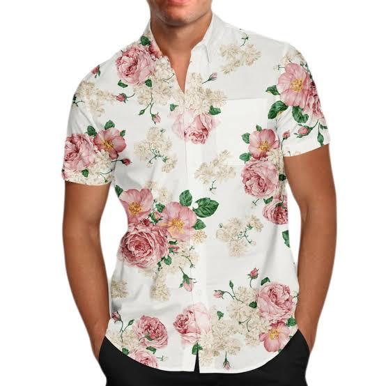 Kit 2 Camisas Floral Florida Masculina Havaiana Estampa