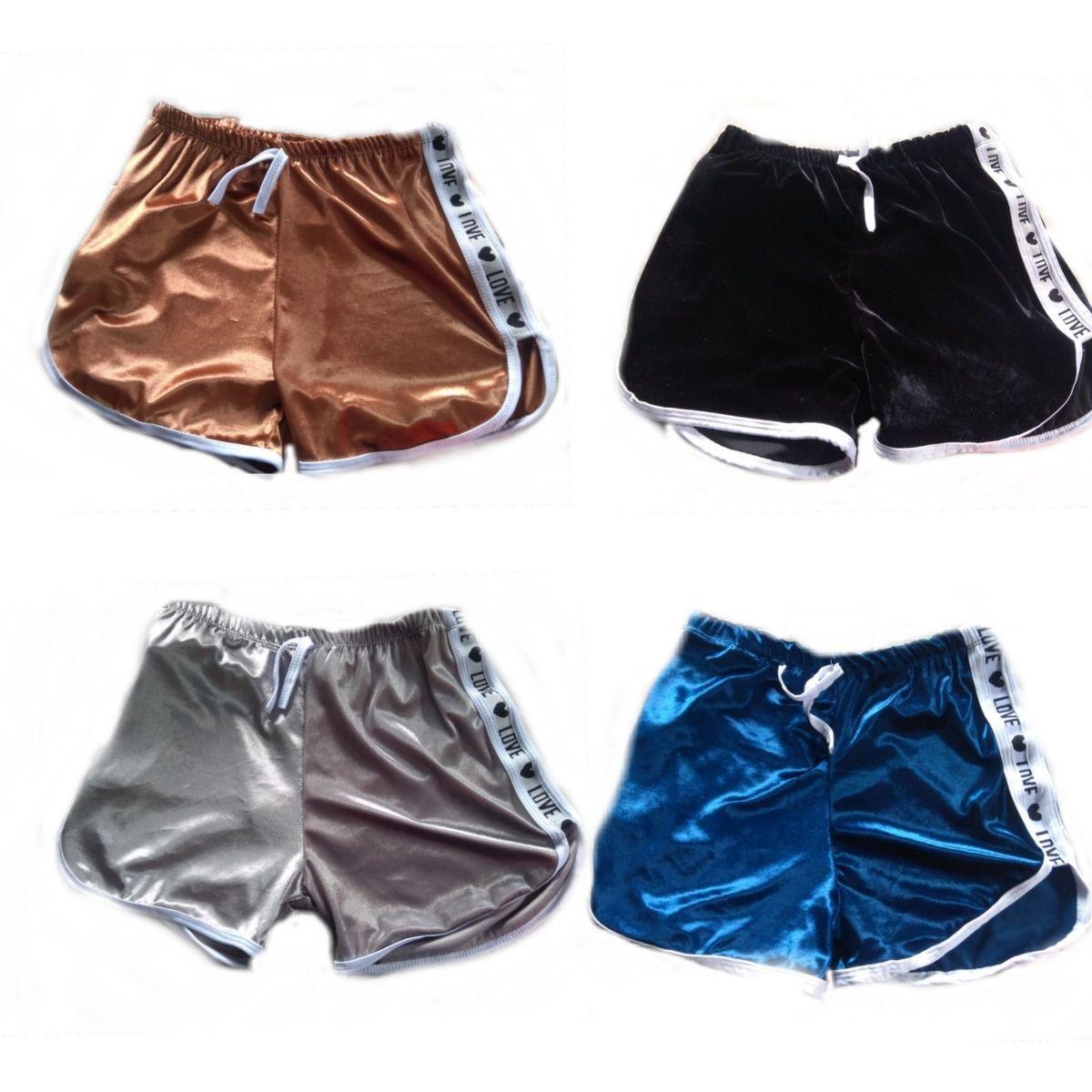 Kit 2 Shorts Casual Veludo Love Shortinho Feminino Atacado