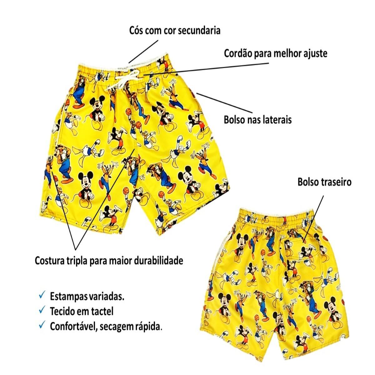 Kit 2 Shorts Mauricinho Bermudas Moda Praia Estilo Neymar