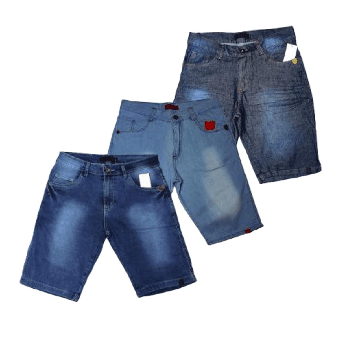 Kit 3 Bermuda Short Jeans Masculina Atacado Revenda E Lucre