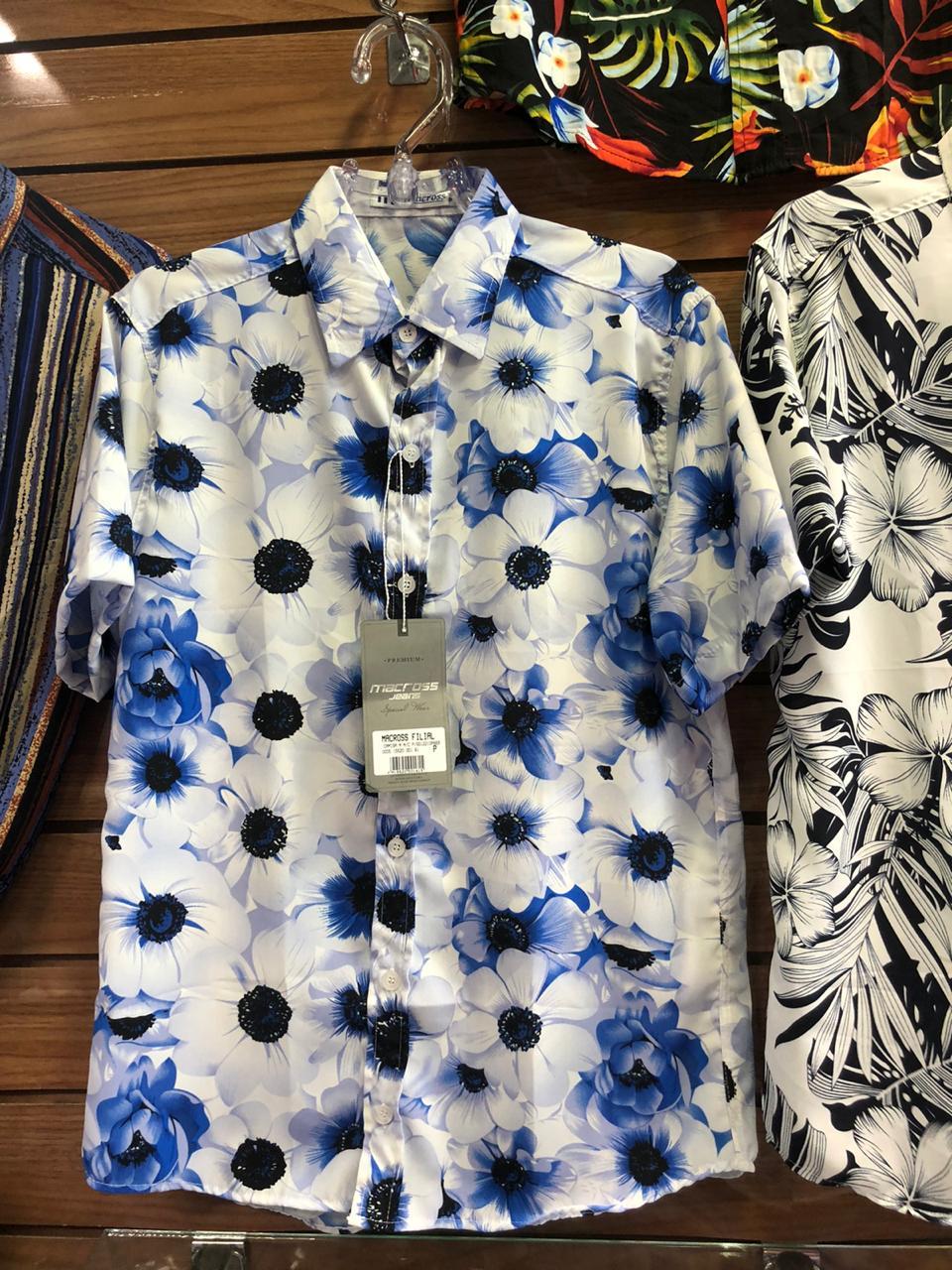 Kit 3 Camisas Floral Florida Masculina Havaiana Estampa