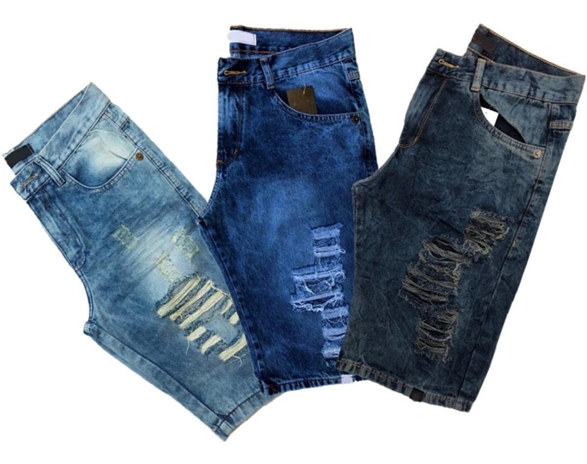 Kit 4 Bermuda Short Jeans Masculina Atacado Revenda E Lucre
