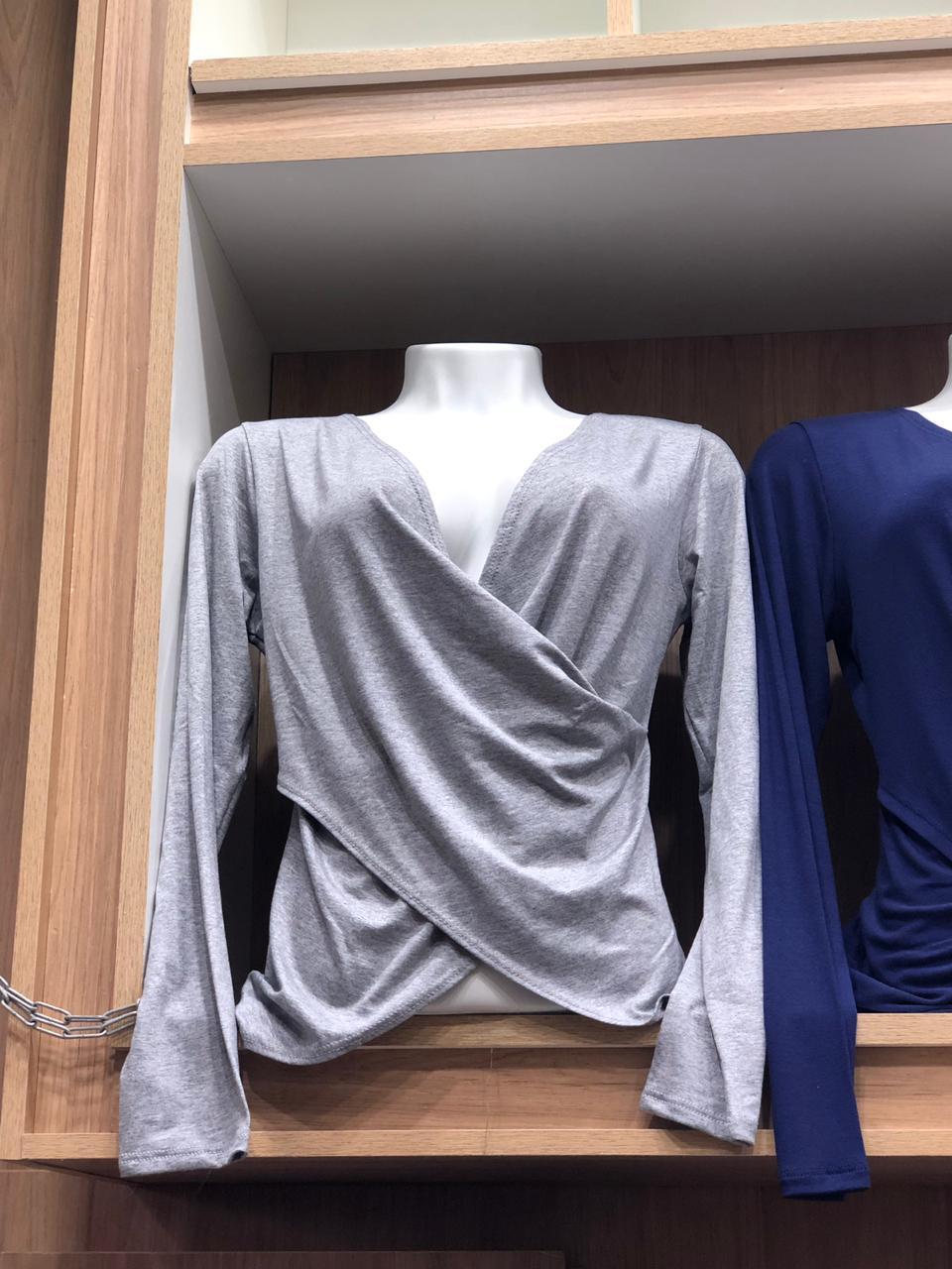 kit 5 blusinha transpassada Viscolycra Variadas