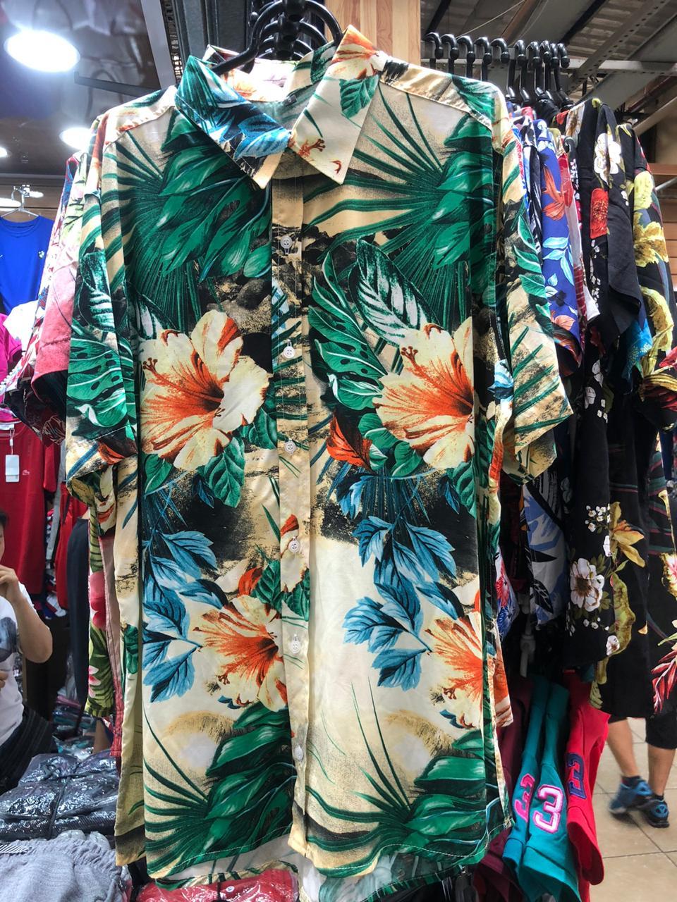 Kit 5 Camisas Floral Florida Masculina Havaiana Estampa