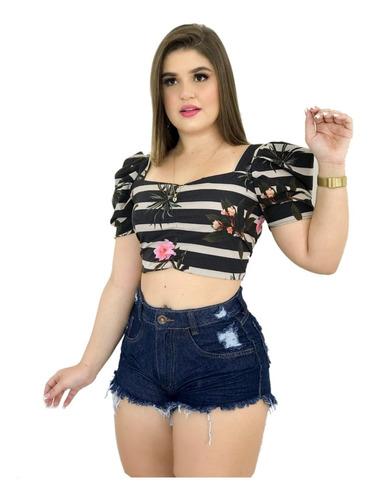 KIT 5 SHORTS JEANS FEMININO DIVERSOS MODELOS