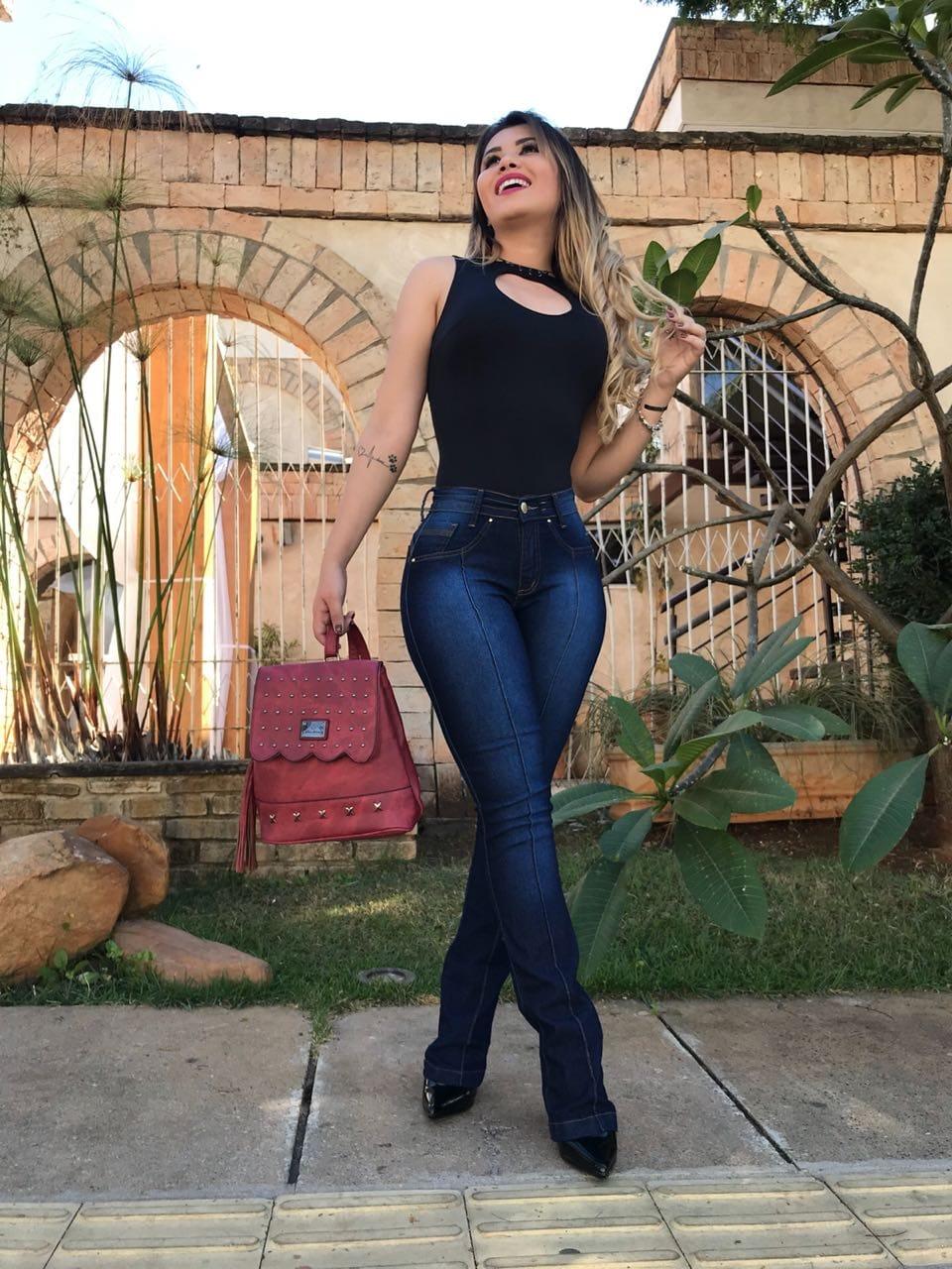 KIT 6 CALÇAS JEANS FEMININA COM ELASTANO DIVERSOS MODELOS
