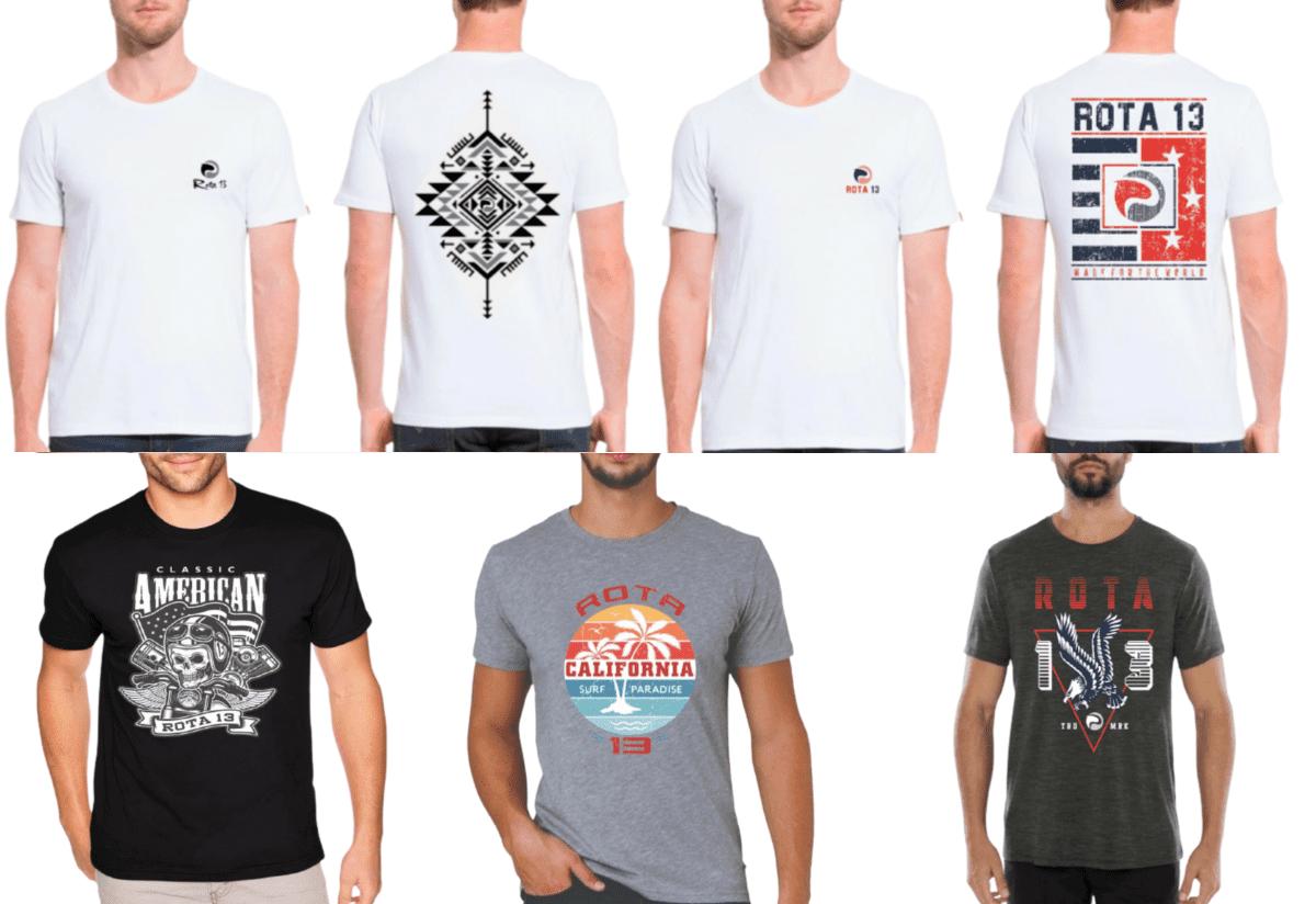 Kit 6 Camiseta Camisa Blusa Masculina Estampada Top Atacado