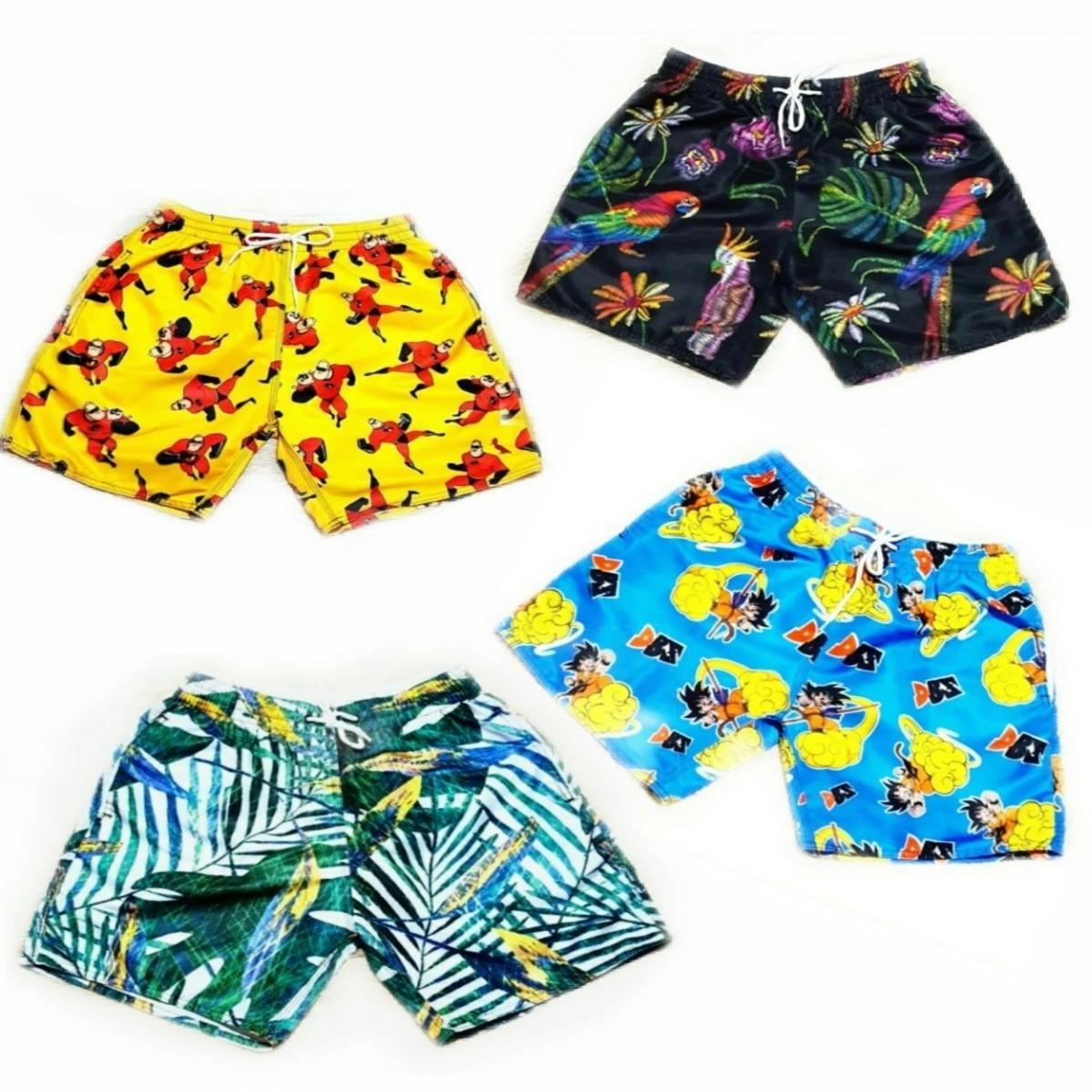 Kit 7 Shorts Mauricinho Bermudas Moda Praia Estilo Neymar