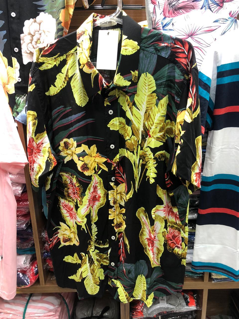 Kit 9 Camisas Floral Florida Masculina Havaiana Estampa