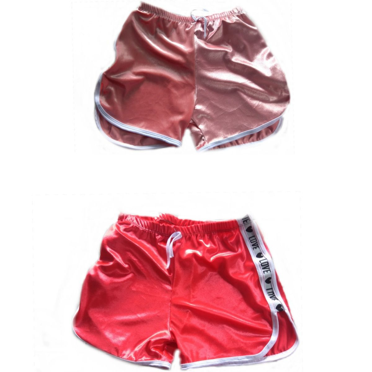 Kit 9 Shorts Casual Veludo Love Shortinho Feminino Atacado